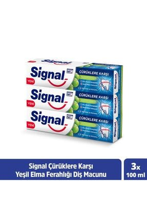 Signal Çürüklere Karşı Yeşil Elma Diş Macunu 100 ml X 3 0