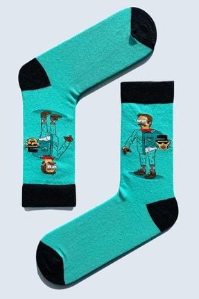 CARNAVAL SOCKS 5'Lİ Simpson EskoBart Kafalar Tasarım Renkli Çorap Set 1032 3