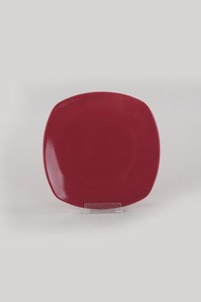 Keramika Carmen Kırmızı Köşem Pasta Tabağı 22 Cm 6 Adet 3