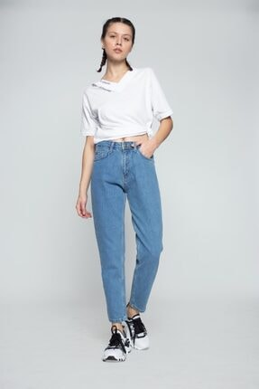 MojerHermosa Kadın Mavi Kot Pantolon 1
