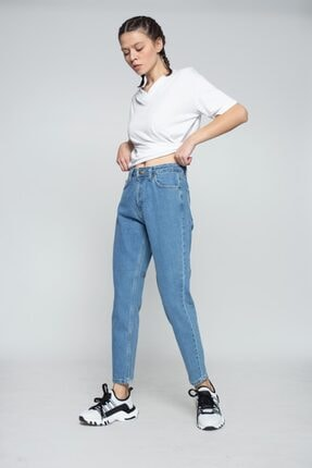 MojerHermosa Kadın Mavi Kot Pantolon 2