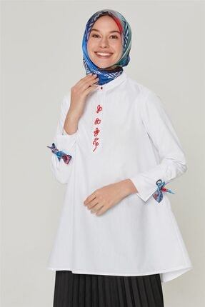 Armine Kadın Ekru Detaylı Trend Bluz 20ya3862 1