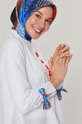 Armine Kadın Ekru Detaylı Trend Bluz 20ya3862 2