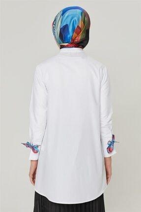 Armine Kadın Ekru Detaylı Trend Bluz 20ya3862 4