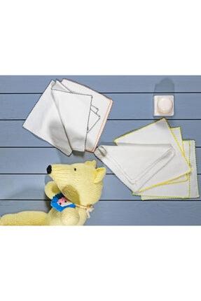 English Home Cotton Pamuk 10'lu Bebe Ağız Silme Bezi 20x20 Cm Krem 0