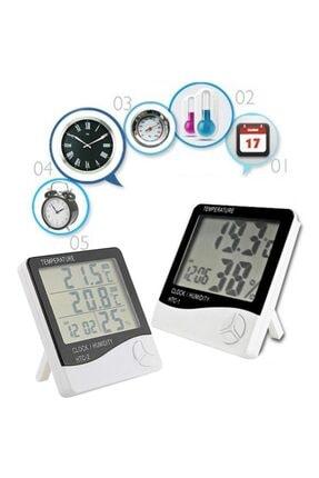 MASTEK Htc 2 Dijital Termometre Saat Isı Sıcaklık Nem Ölçer 2