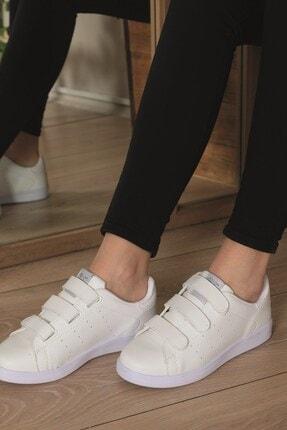 AlbiShoes Unisex Cırtlı Beyaz Sneaker - Bcc75 0
