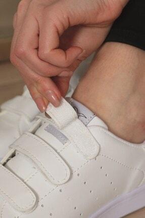 AlbiShoes Unisex Cırtlı Beyaz Sneaker - Bcc75 4