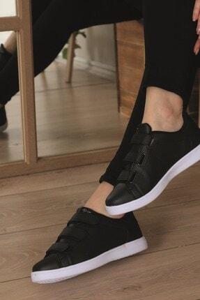 AlbiShoes Unisex Cırtlı Siyah - Beyaz Sneaker - Sbc75 1