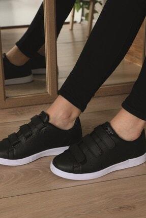 AlbiShoes Unisex Cırtlı Siyah - Beyaz Sneaker - Sbc75 4