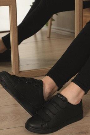 AlbiShoes Unisex Siyah  Cırtlı Sneaker  Scc75 1