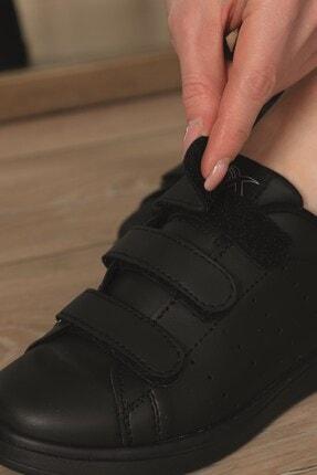 AlbiShoes Unisex Siyah  Cırtlı Sneaker  Scc75 2