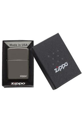 Zippo Çakmak Logo Black Ice Buz Siyahı 150zl 3