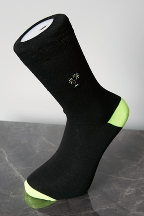 Erkek Siyah Desenli Çorap STN929ECR118