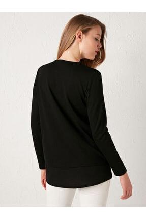 LC Waikiki Kadın Siyah Kareli Bluz 4