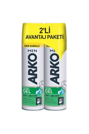 Arko Men Men Anti-Irritation Tıraş Jeli 2 x 200 ml 0