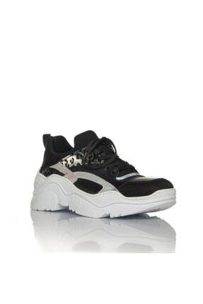 İnci Kadın Siyah Vegan Cilt/dalgıç Slip On Bağcıklı Klasik Spor Ayakkabı -i3007 1