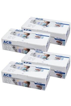 Acr Üretici Firma (mavi) 3 Katlı Medikal Yüz Maskesi - 200 Adet 4 Kutu 0