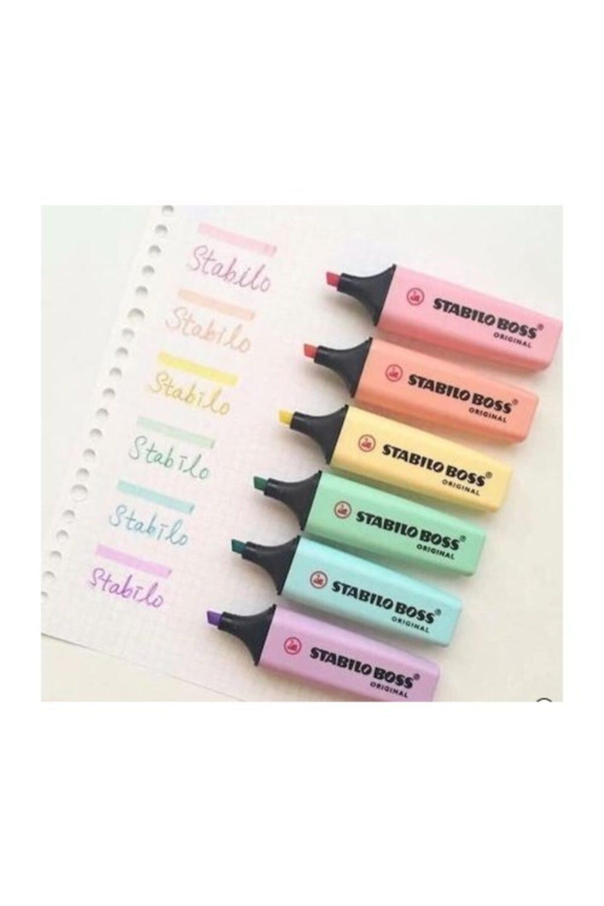 Boss Pastel Fosforlu Kalem 6 Renk