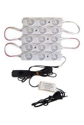 inox Mutfak Dolabı Tezgah Vitrin Dolap Içi Aydınlatma Modül Led Beyaz Işık 5'li 0