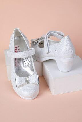 epaavm Topuklu Kendinden Simli Kız Çocuk Ayakkabı 0