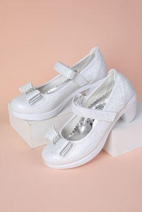epaavm Topuklu Kendinden Simli Kız Çocuk Ayakkabı 1