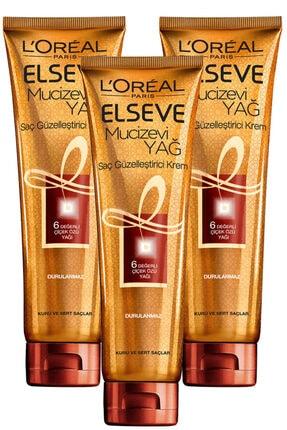 Elseve Mucizevi Yağ Saç Güzelleştirici Krem 150 Ml 3'lü Set 0