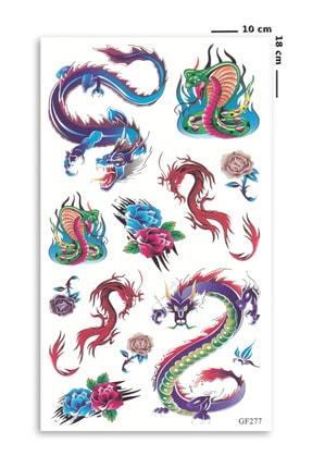 BP Tattoo Renkli Yılan Ve Ejderha Geçici Dövme 0