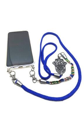 Dugmebul by Org Tekstil Blu Iphone X / Xr Boyun Askılı Telefon Kılıfı (şeffaf Kap Dahil) 0