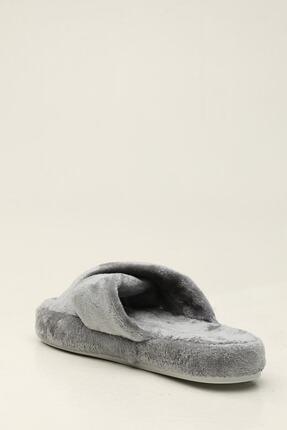 Ayakkabı Modası Kadın Gri Terlik 2