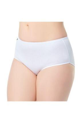 Tutku Kadın 12'li Paket Elastan Bato Külot Beyaz 0