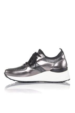İnci Kadın Bronz Vegan Ayna Tekstil Slip On Bağcıklı Klasik Spor Ayakkabı -i3016 3