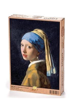 King Of Puzzle Inci Küpeli Kız Johannes Vermeer Ahşap Puzzle 1000 Parça (Kr01m) 0