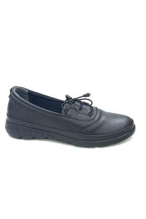 50742 Topuk Dikenine Özel Hakiki Deri Ortapedik Ayakkabı Siyah resmi