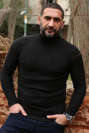 EYG COLLECTİON Erkek Siyah Balıkçı Boğazlı Kazak 0