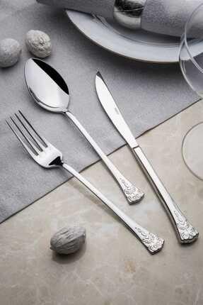 Nehir Akasya 12 Adet Sade Yemek Bıçağı,1 Düzine Sade Çelik Yemek Bıçak 18-10 304 0