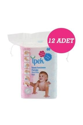 İpek Maxi Bebek Temizleme Pamuğu 60'lı 12 Paket 1