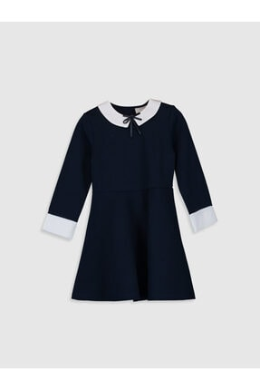 LC Waikiki Kız Çocuk Koyu Lacivert Hrc Elbise 0