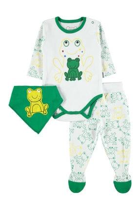 Albimini Erkek Bebek 3'lü Takım 0-6 Ay Yeşil 0