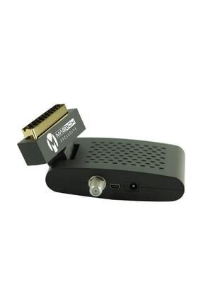 MAGBOX Exclusive Scart Girişli Tüplü Tv Uyumlu Mini Uydu Alıcısı Kanalları Hazır Yüklü 0