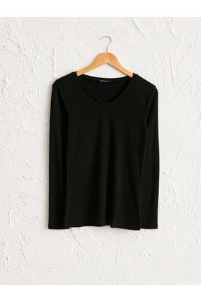 LC Waikiki Kadın Siyah  Tişört 0