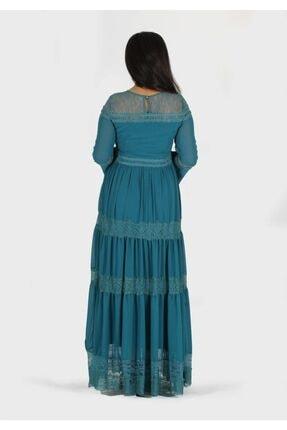 rapellin Dantel Detaylı Şifon Elbise 3