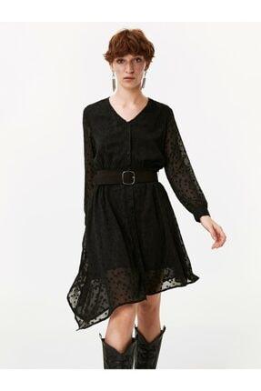 Twist Puantiye Desen Gömlek Elbise 3