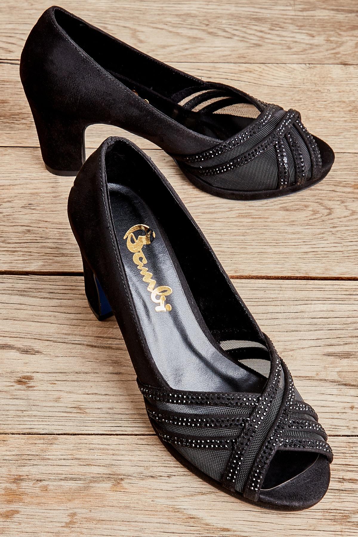 Siyah Kadın Abiye Ayakkabı L0501036806