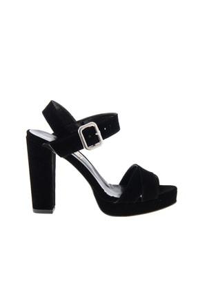 Bambi Siyah Siyah Süet Kadın Klasik Topuklu Ayakkabı L0501407365 1