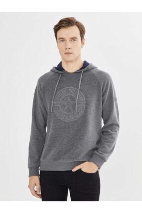Mcl Giyim Kapüşonlu Baskılı Pamuklu Sweatshirt 0