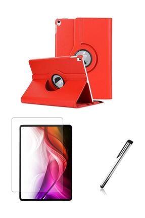 Esepetim Ipad Air 3 (3.nesil) 10.5 Inç Dönerli Kırmızı Tablet Kılıfı Seti 0