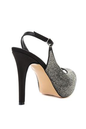 Bambi Sıyah Kadın Açık Ayakkabı L0568026238 3