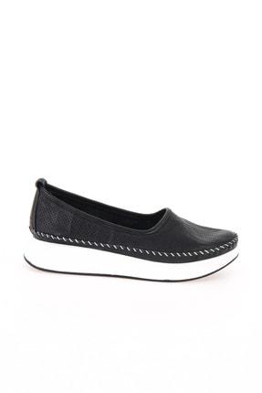 Bambi Hakiki Deri Siyah Kadın Casual Ayakkabı L0504190503 1