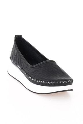Bambi Hakiki Deri Siyah Kadın Casual Ayakkabı L0504190503 2